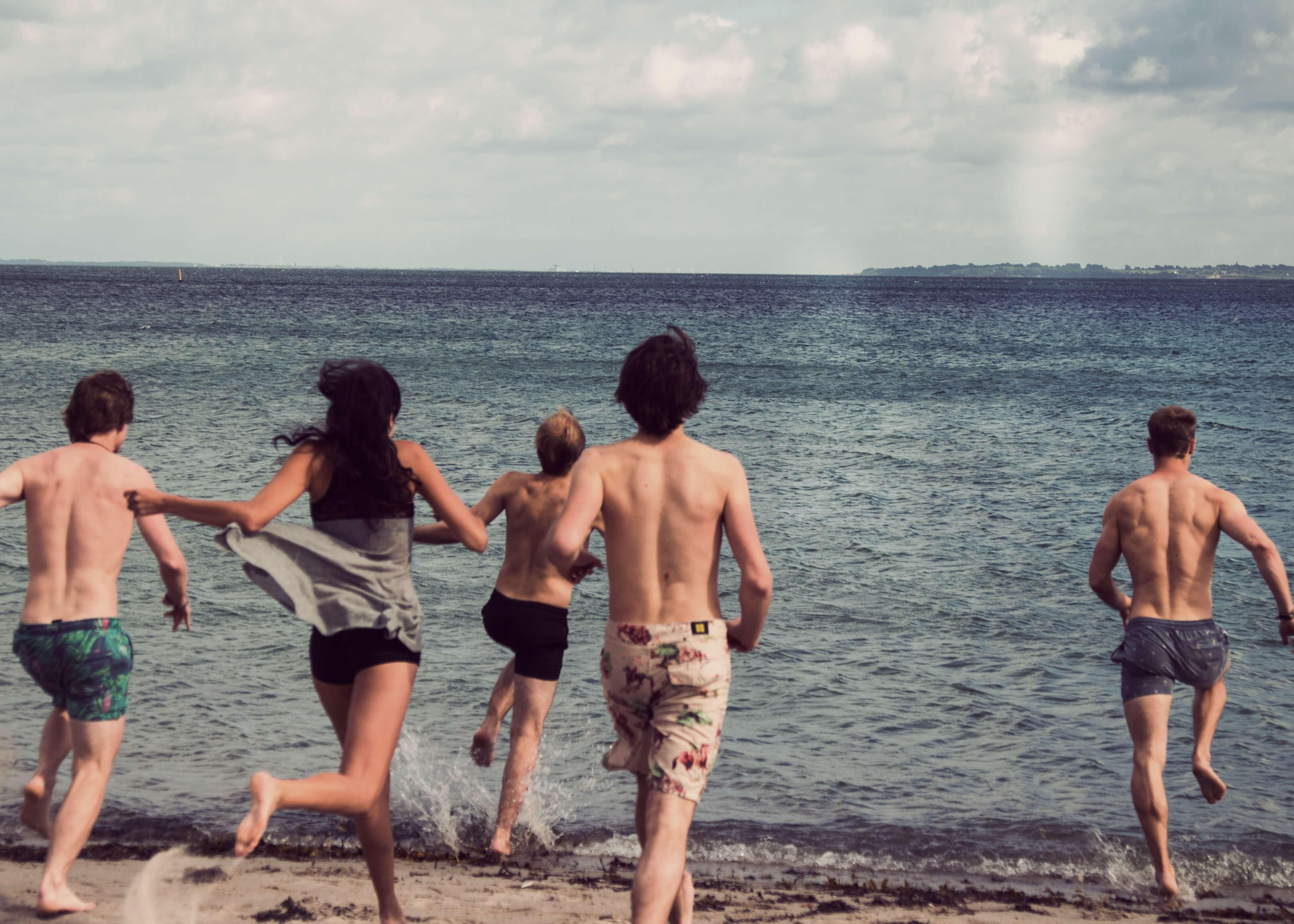 Folk High School Activity at International People's College in Denmark beach trip