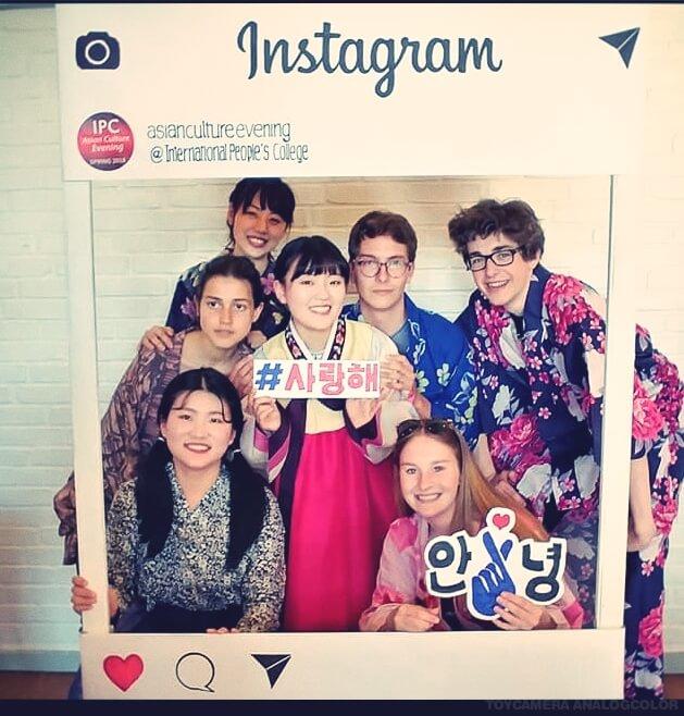 Folk High school Instagram profile at International People's College in Denmark