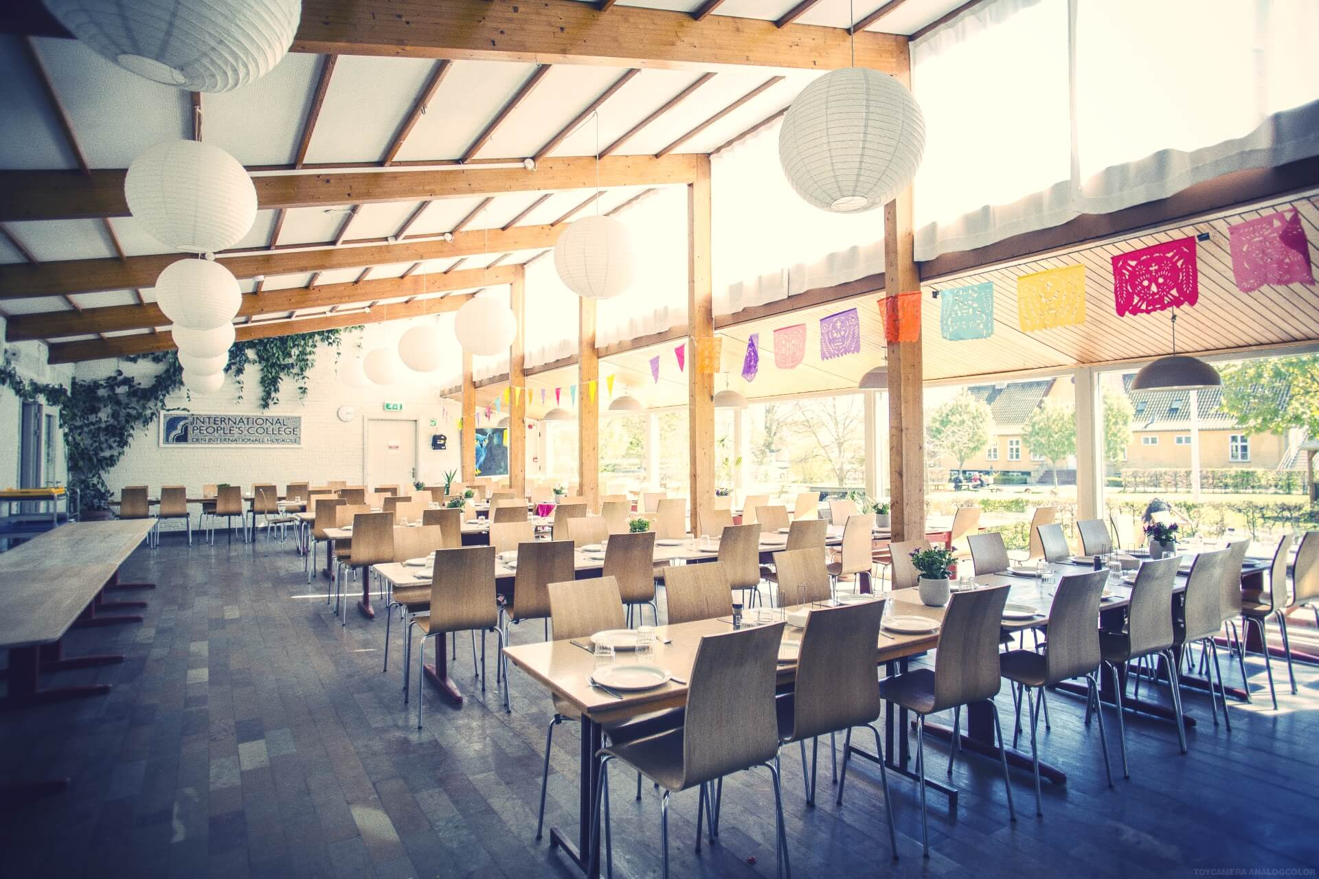 Folk high school Dining hall at International People's College in Denmark 1