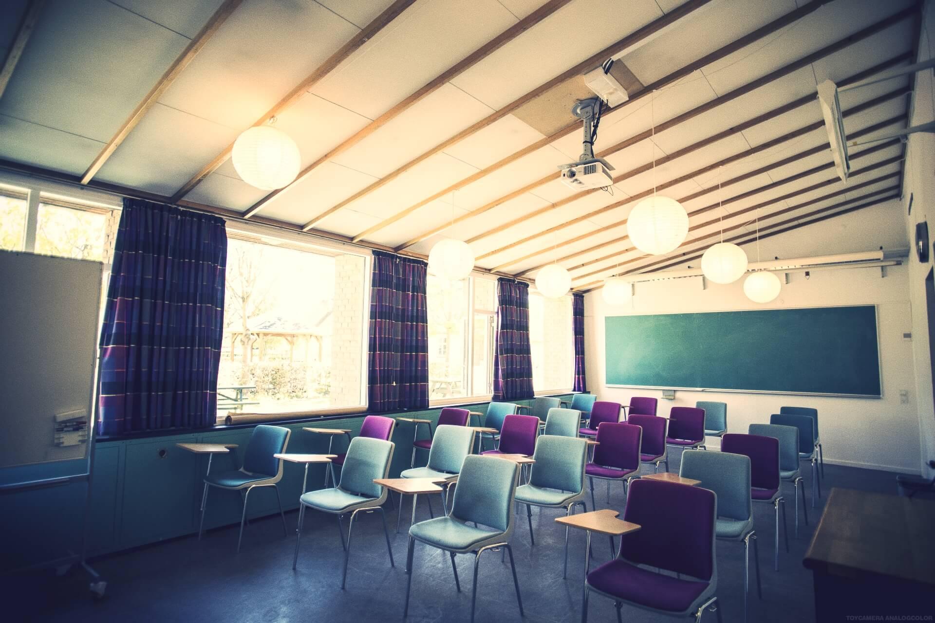 Folk high school classroom at Internatioal People's College in Denmark 1
