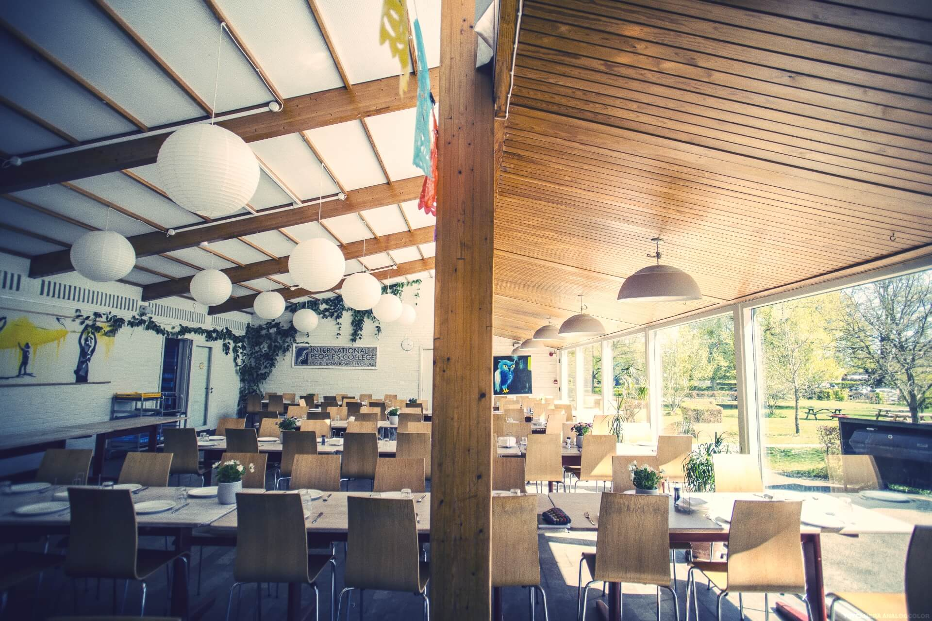 Folk high school Dining hall at International People's College in Denmark 1