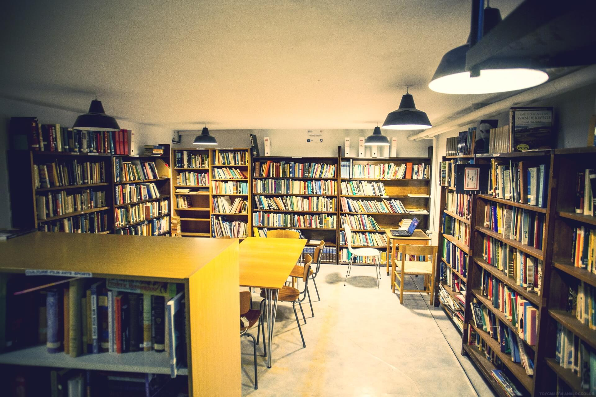 Folk high school library at International People's College in Denmark 2