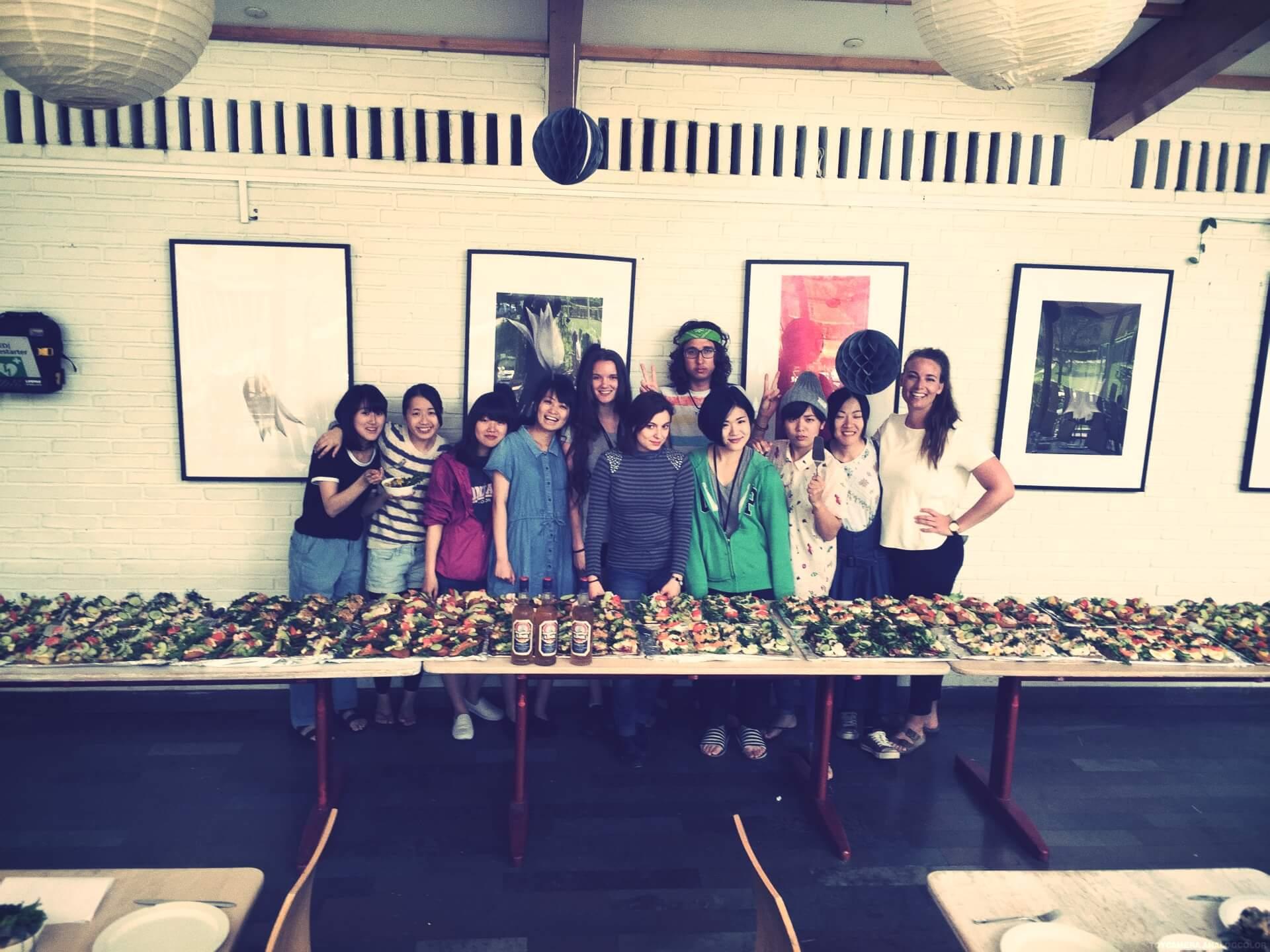 Students prepared Folk High School Danish lunch at International People's College