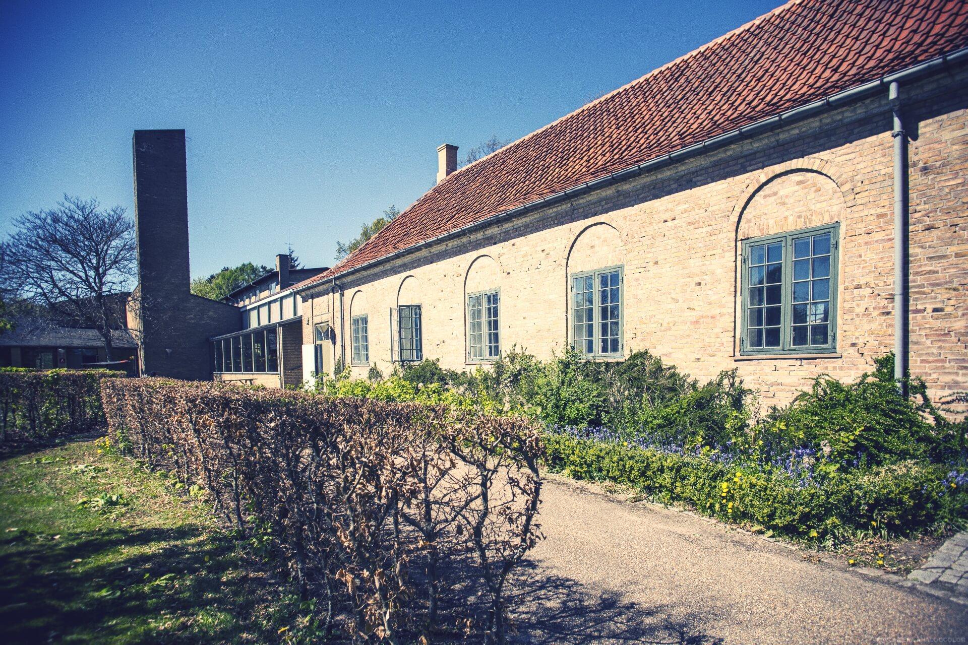 folk high school buildings at Internatioal People's College in Denmark
