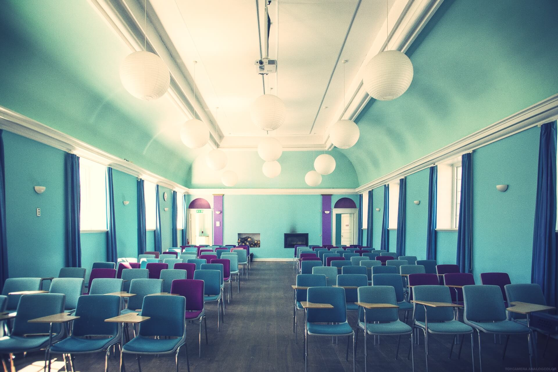 folk high school lecture hall at Internatioal People's College in Denmark 1