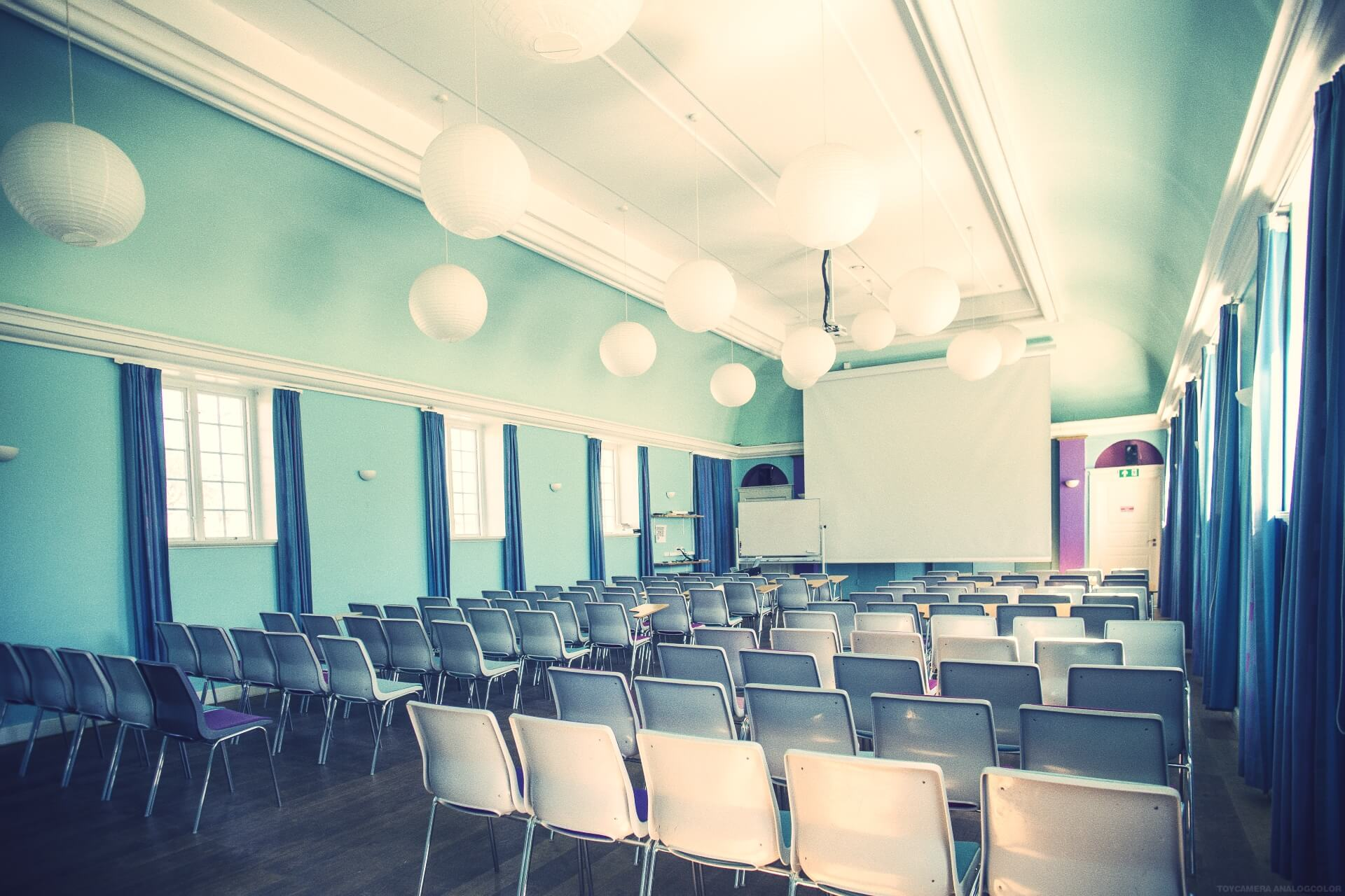 folk high school lecture hall at Internatioal People's College in Denmark 2