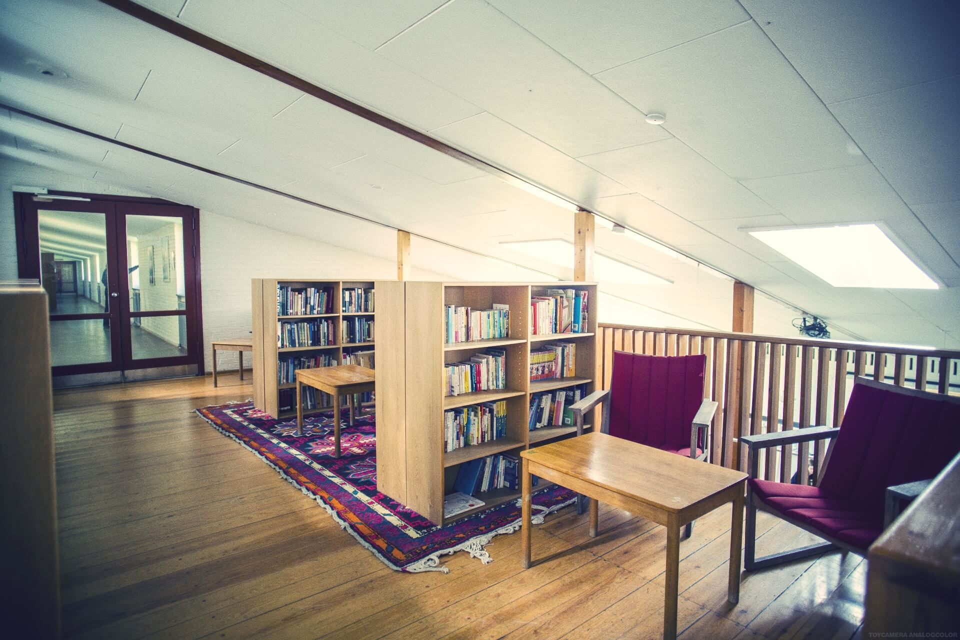 folk high school mini library at International People's College in Denmark