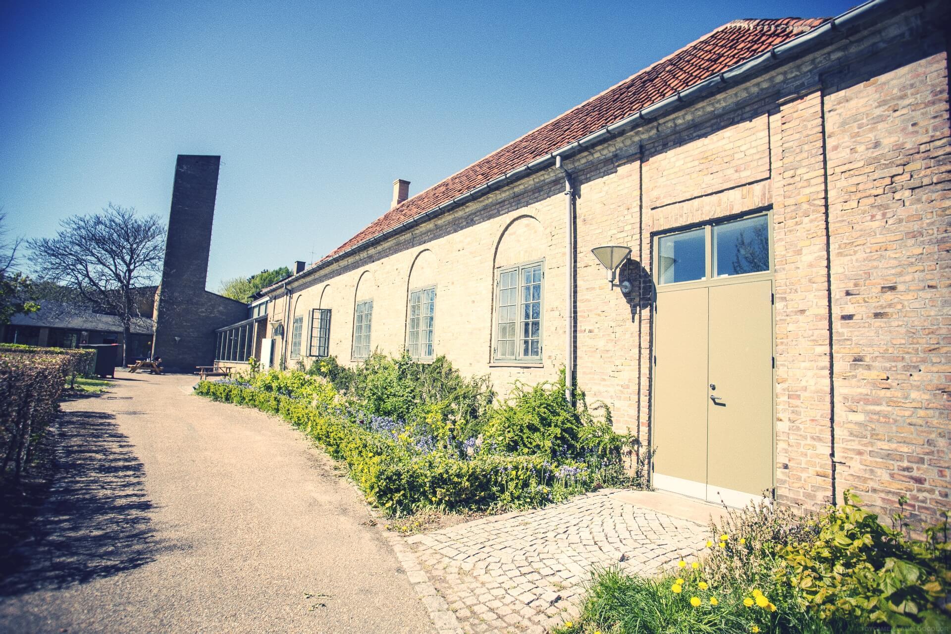 folk high school old building at International People's College in Denmark