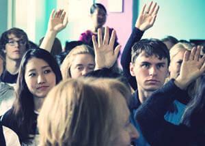Democracy folk high school Core value at International People's Colleg in Denmark