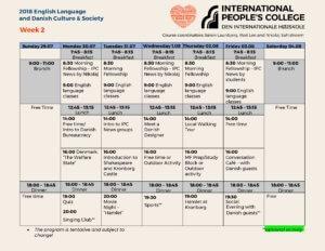 2018 English Language and Danish Culture program at International People's College_2