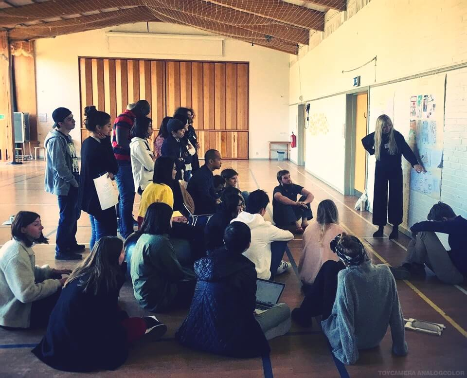 Design and architecture folk high schoool class at International People's College in Denmark presentation