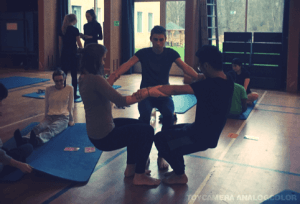Yoga class at International People's College