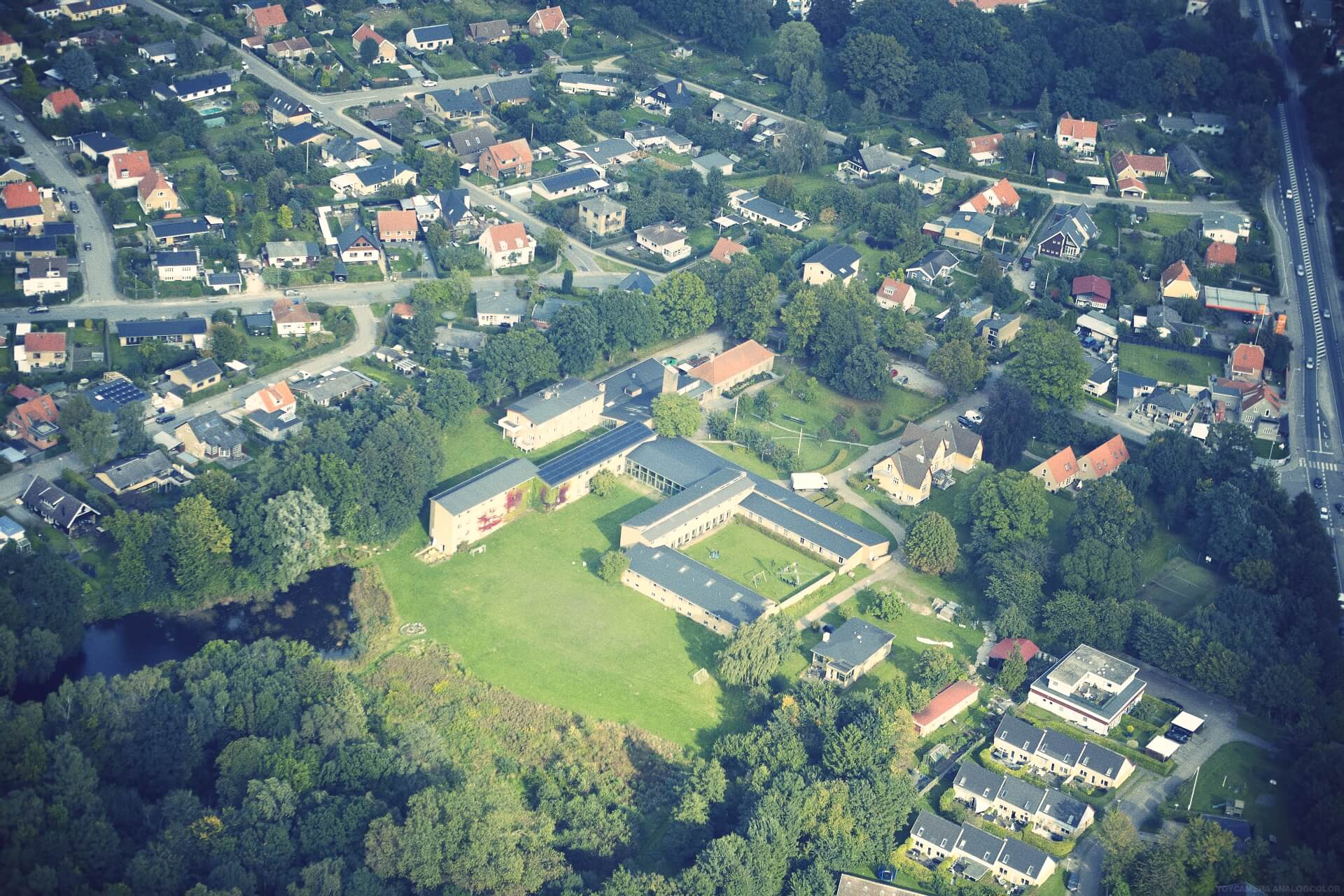 IPC - Folk High School Aerial photo of International People's College in Denmark
