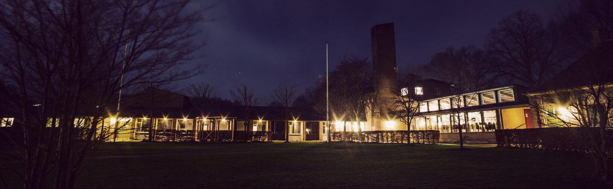 IPC - International People's College facilities at night - a folk high school in Denmark