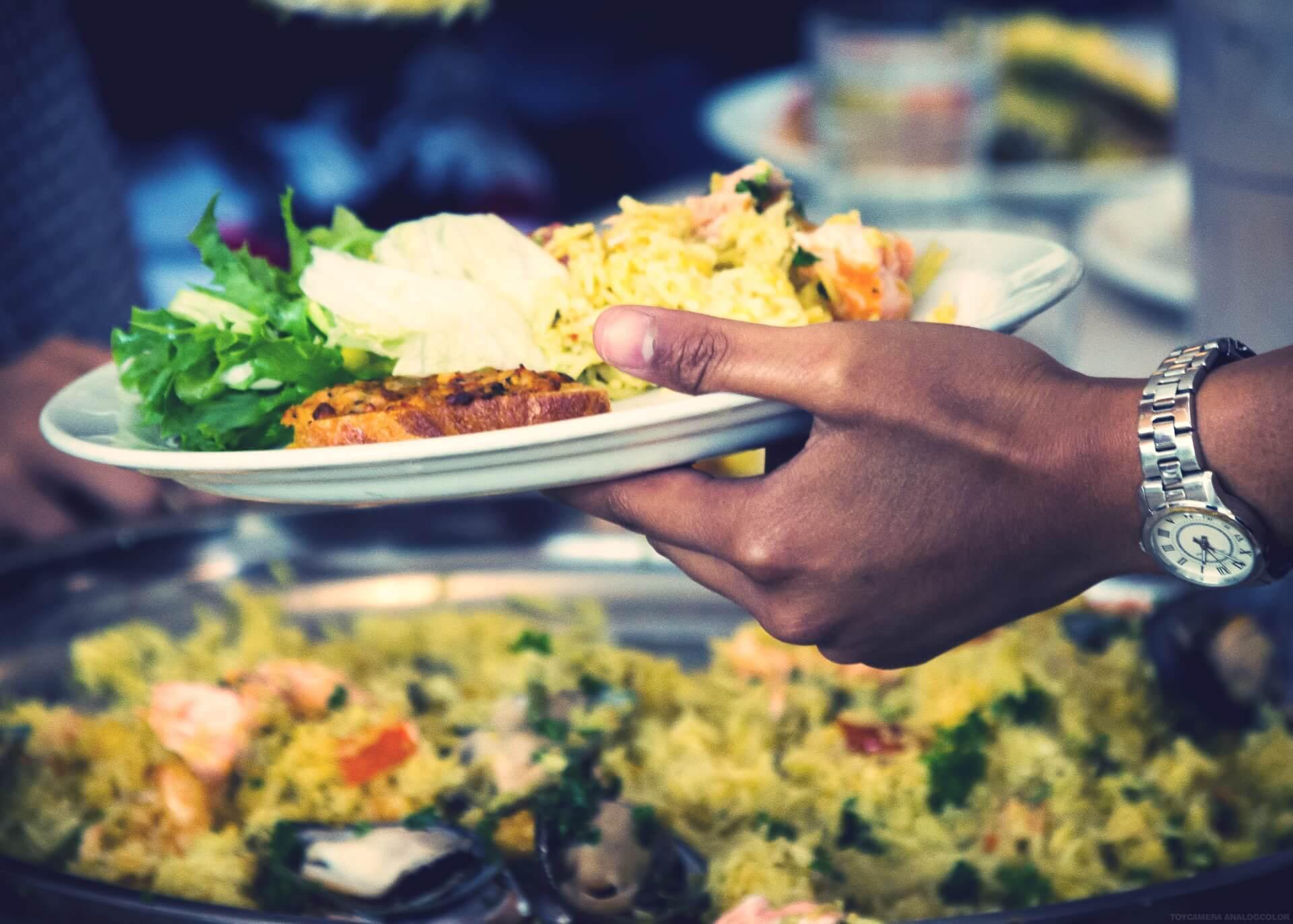 IPC - International cuisine Folk High School lunch at International People's College