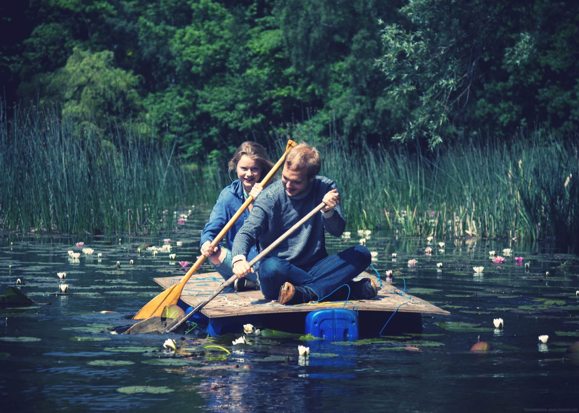 IPC - Paddling on the lake - Folk high school Leisure time activities in Denmark at International People's College