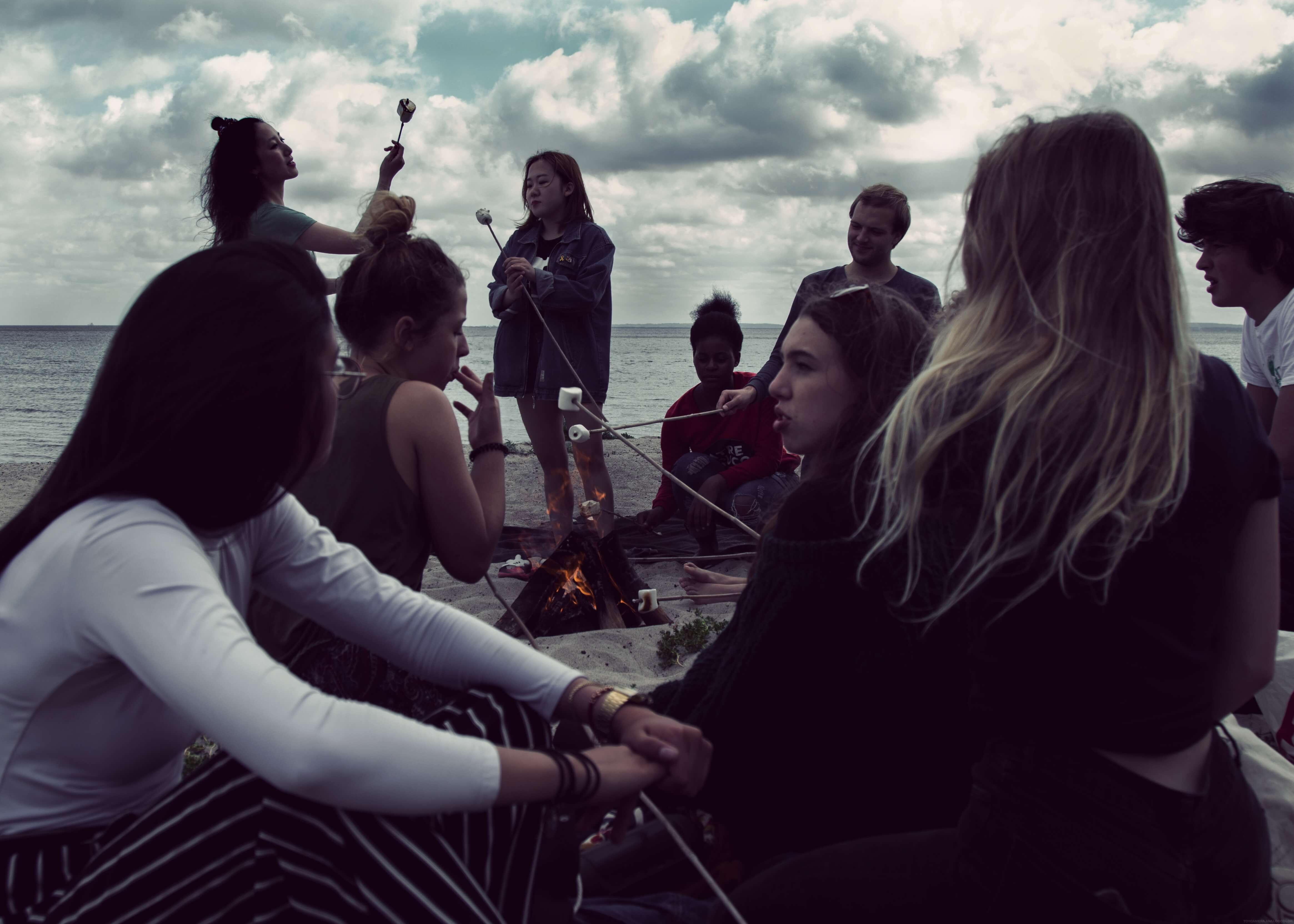 Folk High School Activity at International People's College in Denmark beach trip 2