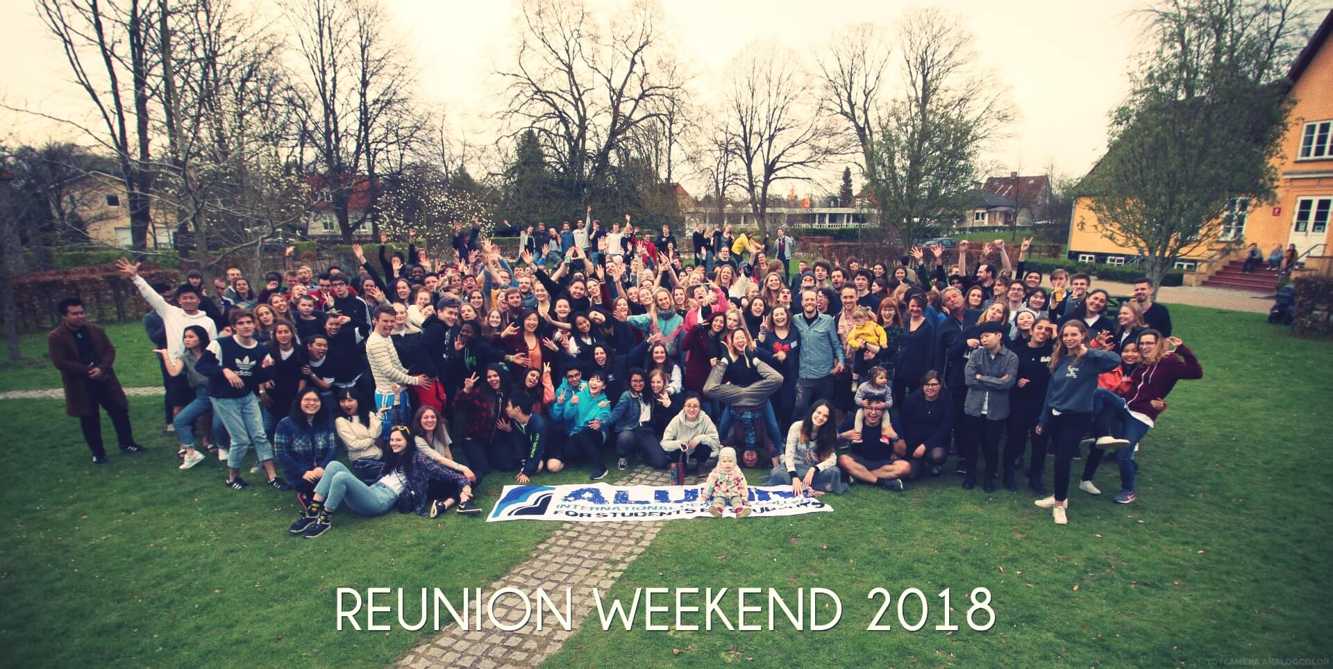 folk high school reunion weekend 2018 having fun at International People's college in Denmark