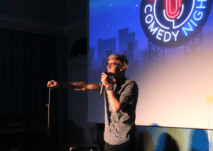 stand up show at folk high school in denmark
