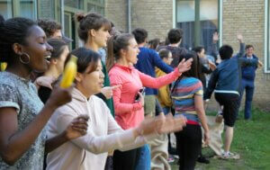 students at international people's college - folk high school in denmark
