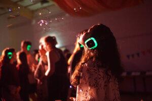Silent disco at folk high school
