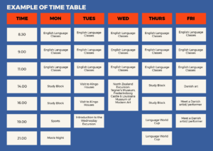 example of timetable_English course_3
