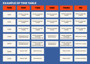 example of timetable_danish course_3