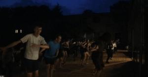 African dance and drum class at folk high school denmark