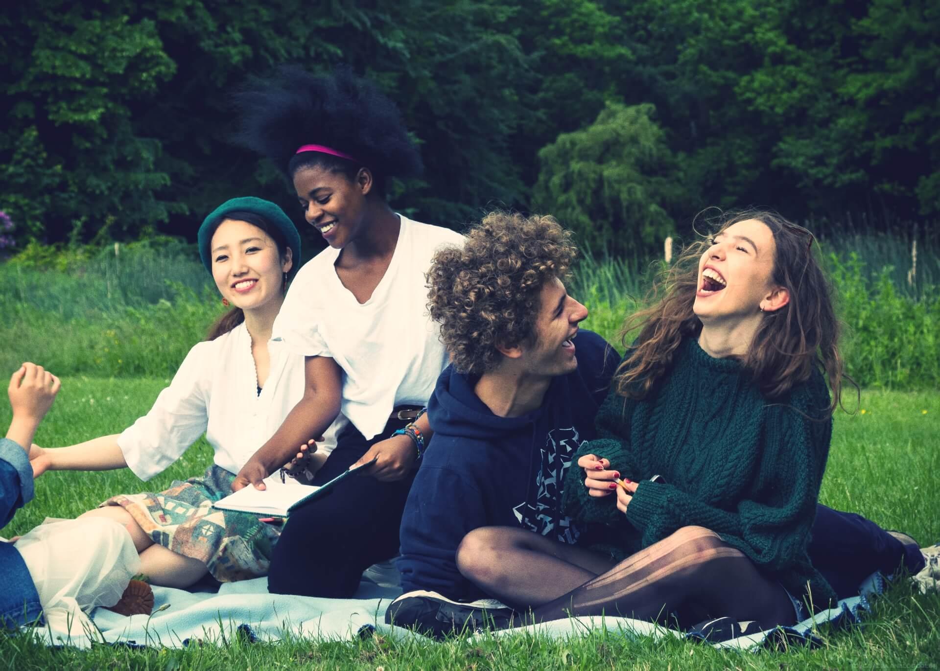 Folk High School Students hanging out - International People's College - a Folk High School in Denmark