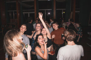 Leisure time activities at International People's College: parties