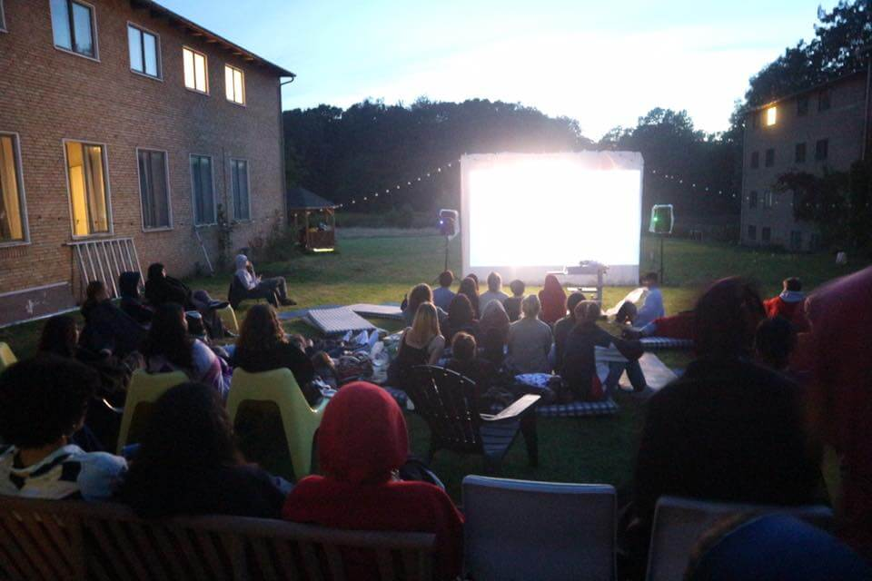 Leisure time activity at International People's College: Movie night